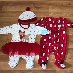 Other - Baby 0-3 months Christmas outfits